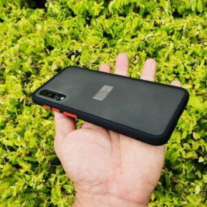 Case Samsung A30s Casing Hybrid Softcase Hardcase Transparan Matte Hitam 2 min