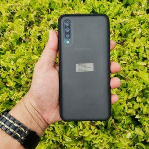 Case Samsung A30s Casing Hybrid Softcase Hardcase Transparan Matte Hitam min