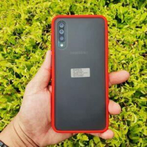 Case Samsung A30s Casing Hybrid Softcase Hardcase Transparan Matte Merah min