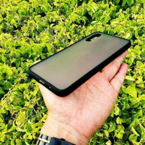 Case Samsung A70 Casing Hybrid Softcase Hardcase Transparan Matte Hitam 3 min