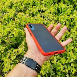 Case Samsung A70 Casing Hybrid Softcase Hardcase Transparan Matte Orange min