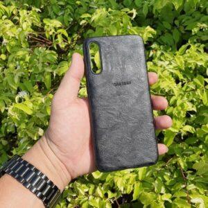 Softcase Leather Samsung Galaxy A30s hitam 2 min