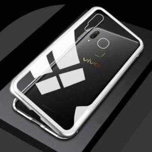 Case Magnetic Glass Vivo V9 Silver min