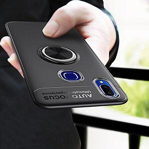 0 Phone Cases For VIVO Y95 Y91 With Finger Ring Magnetism Holder Business Back Cover For VIVO 1