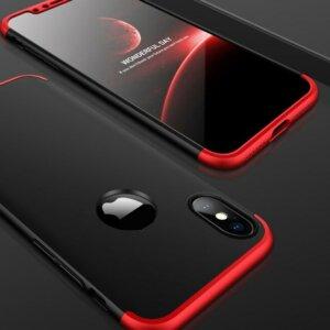 3 GKK Case For iPhone XS Max XR 360 Full Protection Cover Ring Holder Finger Grip
