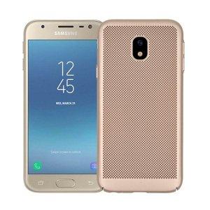 BONVAN-for-Samsung-Glaxy-J7-J5-J3-2017-Pro-Prime-Heat-Dissipation-Case-Hollow-Matte-Breathable_Gold-min