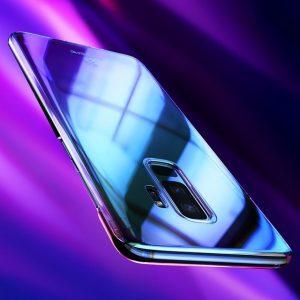 Case Floveme Transparen Aurora For Samsung S9 S9+BLUE 2