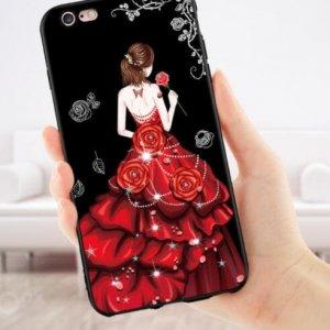 Case Gaun Luxury Diamond For Oppo A57 Merah