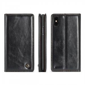 Caseme Leather iPhone X Black