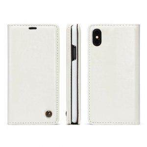 Caseme Leather iPhone X White