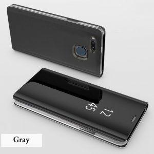 Clear View Standing Cover Case Flip Mirror Xiaomi Mi A1 Black