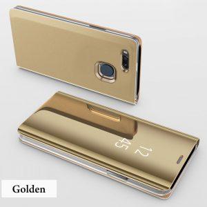 Clear View Standing Cover Case Flip Mirror Xiaomi Mi A1 Gold