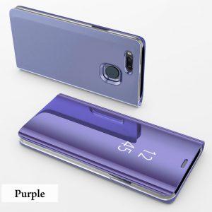 Clear View Standing Cover Case Flip Mirror Xiaomi Mi A1 Purple
