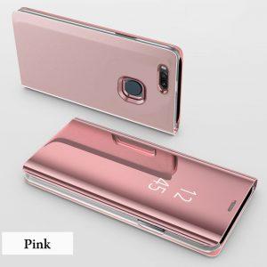 Clear View Standing Cover Case Flip Mirror Xiaomi Mi A1 Rose Gold