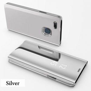 Clear View Standing Cover Case Flip Mirror Xiaomi Mi A1 Silver