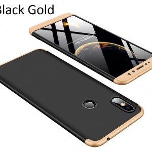 GKK-Case-For-Xiaomi-Redmi-S2-360-Full-Protection-Cover_Black Gold