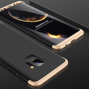 GKK-Original-Case-For-Samsung-Galaxy-S9-Case-Dual-Armor-360-Full-Protection-Hard-Hybrid-PC_Gold Black Gold