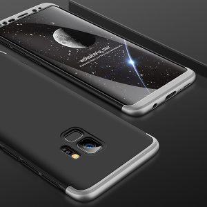 GKK-Original-Case-For-Samsung-Galaxy-S9-Case-Dual-Armor-360-Full-Protection-Hard-Hybrid-PC_Sliver Black Silver