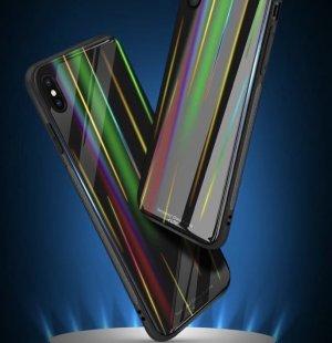 Glass Case Rainbow Slim TPU Samsung J4 Plus b