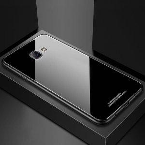 Glass Case Slim TPU Samsung J4 Plus Black