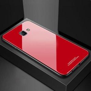 Glass Case Slim TPU Samsung J4 Plus Red