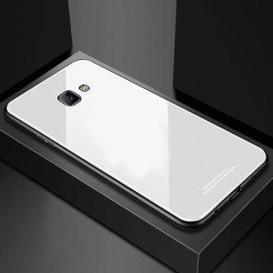 Glass Case Slim TPU Samsung J4 Plus White