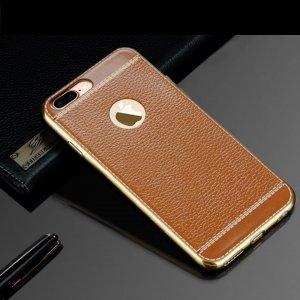 Leather Metal Bumper Case (1)