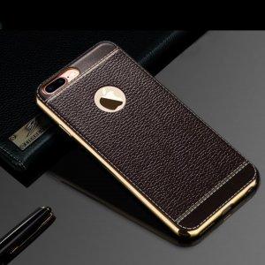 Leather Metal Bumper Case (4)