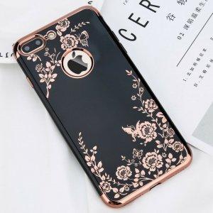 Luxury Flower iPhone 7 Plus Black