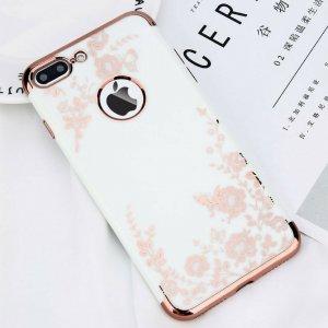Luxury Flower iPhone 7 Plus White