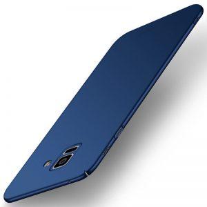 MAKAVO-For-Samsung-Galaxy-A8-2018-Case-Slim-Matte-Hard-Back-Cover-For-Samsung-Galaxy-A8_Blue