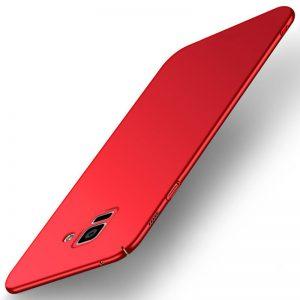 MAKAVO-For-Samsung-Galaxy-A8-2018-Case-Slim-Matte-Hard-Back-Cover-For-Samsung-Galaxy-A8_Red