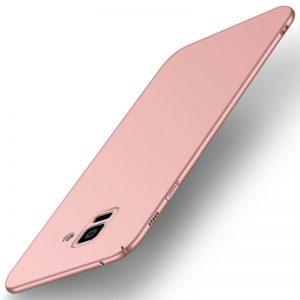 MAKAVO-For-Samsung-Galaxy-A8-2018-Case-Slim-Matte-Hard-Back-Cover-For-Samsung-Galaxy-A8_Rose gold