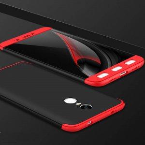 Redmi Note 4 (Snapdragon):Note 4x Full Cover Armor Baby Skin Hard Case Merah Hitam