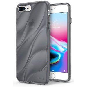 Ringke-Flow-Case-for-iPhone-8-Plus-7-Plus-Minimalist-Wavy-Textured-Fitting-Lightweight-Drop-Resistant_Smoke Black