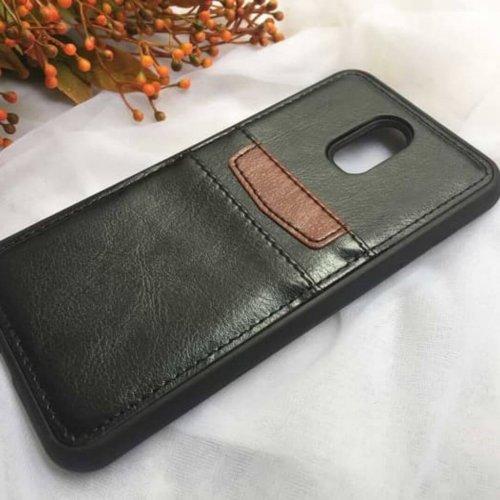 Samsung-Galaxy-J7-Plus-Casing-Back-Leather-Bumper-Softcase-Black-compressor