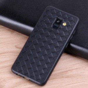 Slim-Woven-Texture-Soft-Case-for-Samsung-Galaxy-A8-A6-Plus-2018-J6-J600-2018-J2_Black (2)
