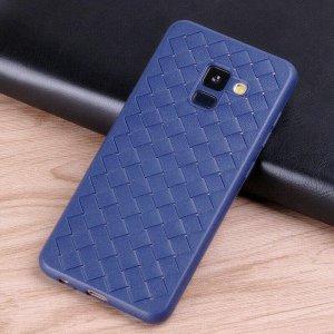Slim-Woven-Texture-Soft-Case-for-Samsung-Galaxy-A8-A6-Plus-2018-J6-J600-2018-J2_Blue (2)