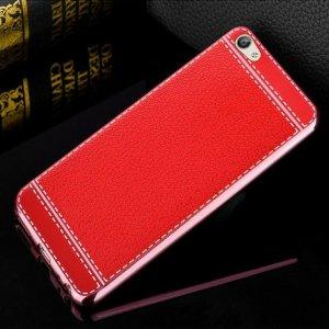 Soft Case Leather Chrome Vivo V5 Red