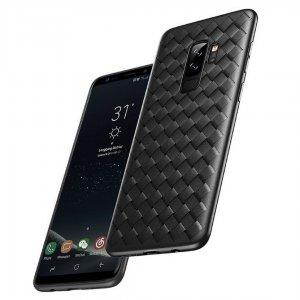 Weave Case Silicone Ultra Slim Samsung Galaxy S9 S9 Plus Black