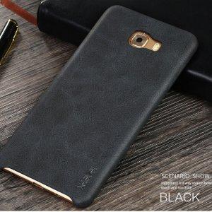 X-LEVEL VINTAGE Samsung Galaxy C9 Pro Leather Case Black