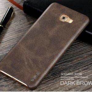X-LEVEL VINTAGE Samsung Galaxy C9 Pro Leather Case Dark Brown a