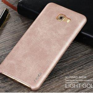 X-LEVEL VINTAGE Samsung Galaxy C9 Pro Leather Case Light Gold