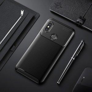 Xiaomi Mi A2 Mi 6X Softcase Premium Autofocus Carbon Black