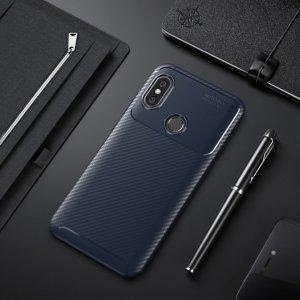 Xiaomi Mi A2 Mi 6X Softcase Premium Autofocus Carbon Blue