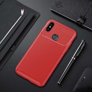 Xiaomi Mi A2 Mi 6X Softcase Premium Autofocus Carbon Red