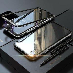 dengan Case Magnetic Aluminium Tempered Glass Luxury Black
