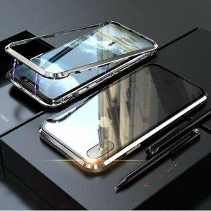 dengan Case Magnetic Aluminium Tempered Glass Luxury silver