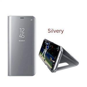 vivo-v9-clear-view-standing-case-silver-compressor
